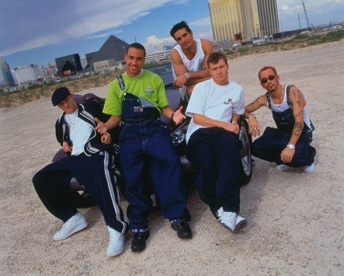 The Backstreet Boys वॉलपेपर possibly containing a street, a carriageway, and a business suit entitled Backstreet Boys