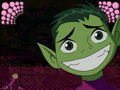 Teen Titans vs. Young Justice fond d'écran containing animé titled Beast-Boy