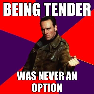 Being tender, lol!