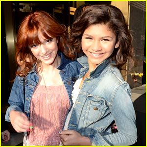 Bella Thorne and Zendaya at Just Jared
