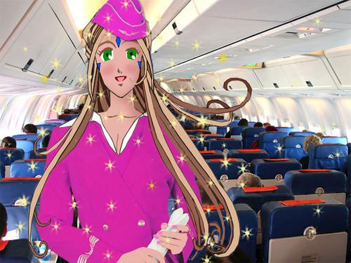 Belldandy Stewardess Cameo