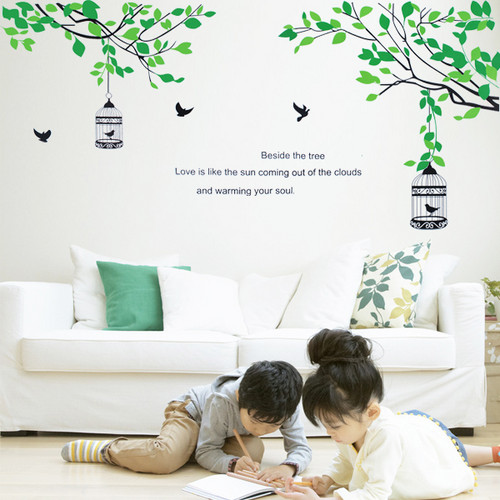 Beside the Tree Love is like the Sun Coming Out of Clouds and Warming Up Your Soul Wall Sticker