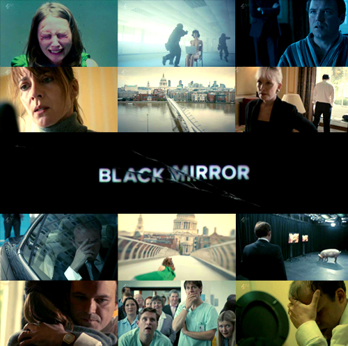 Black Mirror karatasi la kupamba ukuta entitled Black Mirror-The National Anthem