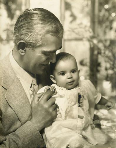 Boris Karloff and Daughter Sara Jane