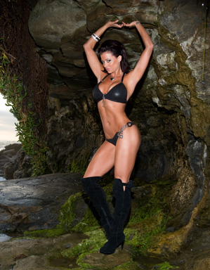 Candice Michelle Hintergrund probably containing a bikini called Candice Michelle Photoshoot Flashback