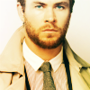 Chris Hemsworth photo possibly containing a trench coat, a burberry, and a pea jacket titled Chris Hemsworth