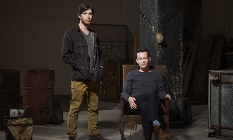 Cillian Murphy and Enda Walsh at the National Theatre.