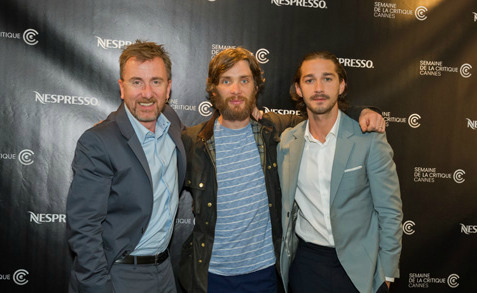 Cillian with Tim and Shia at Cannes 2012