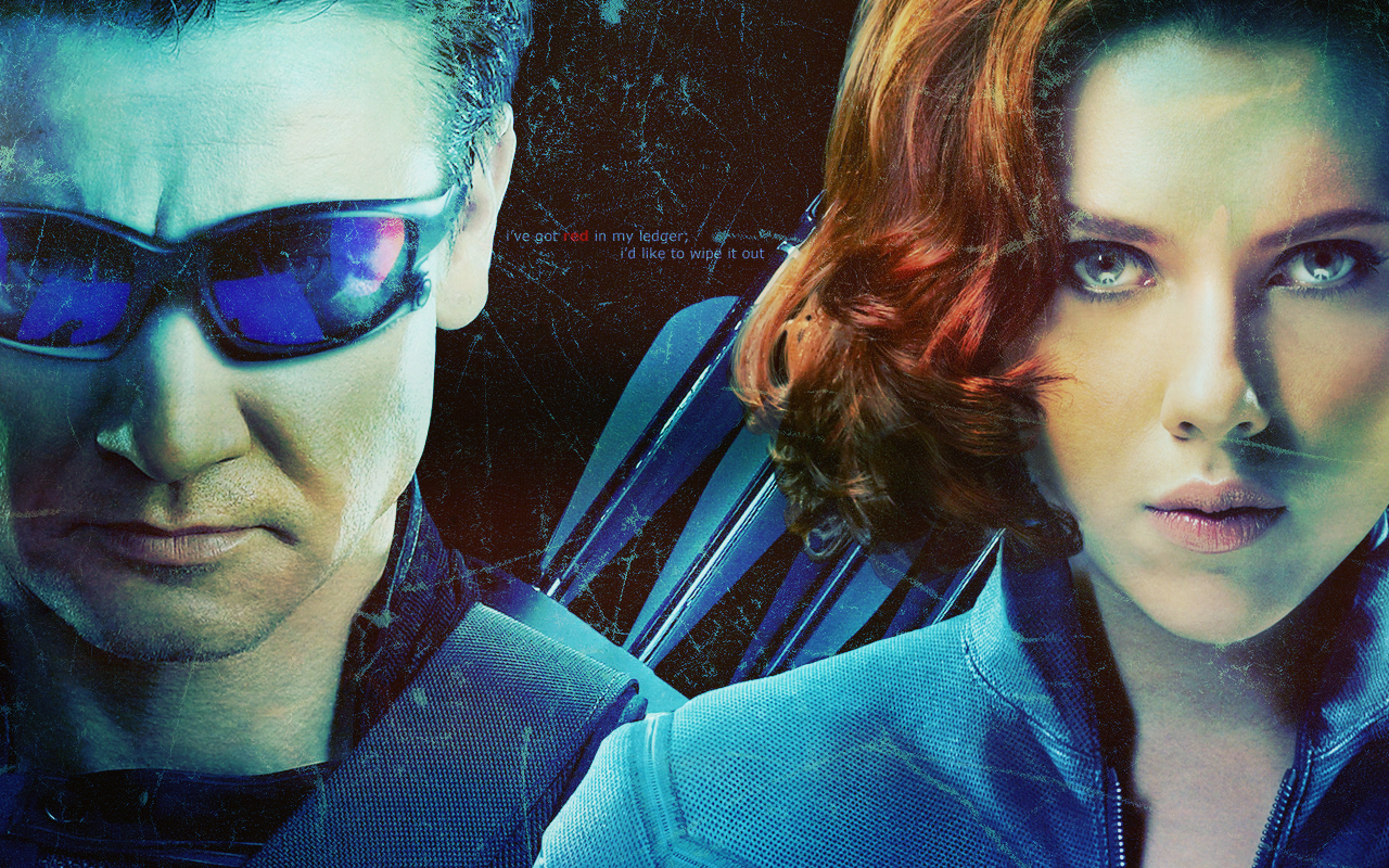 Clint & Natasha - Hawkeye & Black Widow Wallpaper (31064753