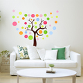 Colorful pokok dinding Sticker