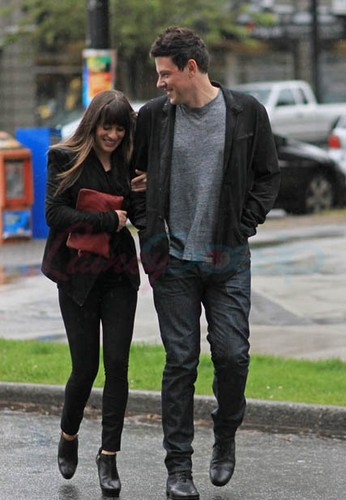 Cory Monteith & Lea Michele Out Of The Eatery, Vancouver - May 30,2012