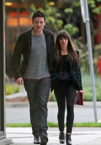 Cory Monteith & Lea Michele Out Of The Eatery, Vancouver - May 30,2012 - lea-michele Photo