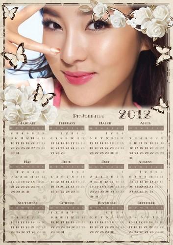 DARA 2NE1 CALENDAR 2012