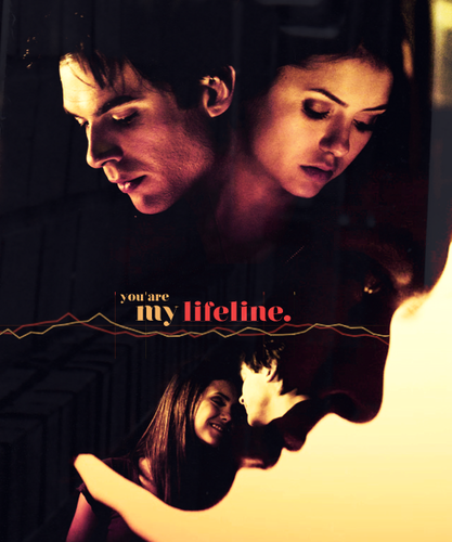 DE - damon-and-elena Fan Art