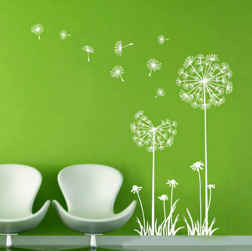 Dandelions in the Wind Wand Sticker