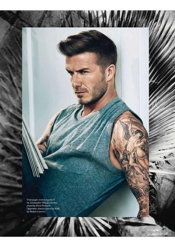 David Beckham: Elle Magazine UK - July 2012