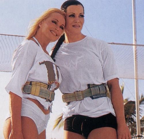 Former WWE Diva... Debra achtergrond titled Debra In Hedonism