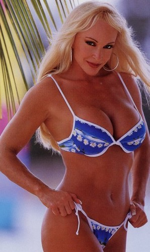 Bekas Diva WWE... Debra kertas dinding with a bikini called Debra In Hedonism