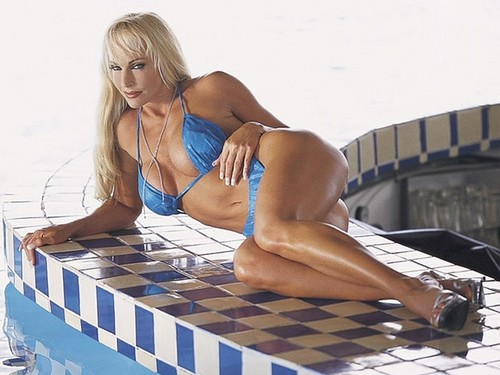 Former WWE Diva... Debra پیپر وال containing a maillot called Debra In Hedonism