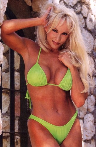 Frühere WWE-Diva… Debra Hintergrund containing a bikini called Debra In Hedonism