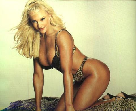 Frühere WWE-Diva… Debra Hintergrund possibly with skin called Debra - Raw Magazine 2002