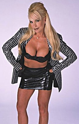 Frühere WWE-Diva… Debra Hintergrund probably containing attractiveness titled Debra - Striped Suit