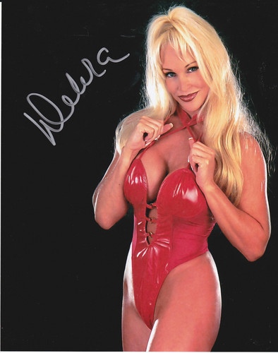 Former WWE Diva... Debra پیپر وال containing a maillot and a leotard called Debra in Red