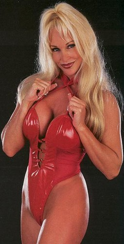Former WWE Diva... Debra achtergrond containing a leotard called Debra in Red