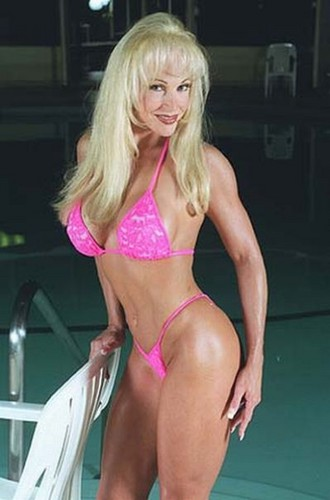 Former WWE Diva... Debra پیپر وال with a bikini titled Debra in a گلابی micro bikini
