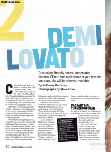 Demi - Magazine Scans - Cosmopolitan Magazine - July 2012