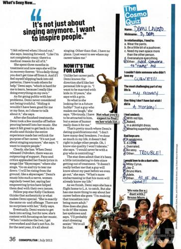 Demi - Magazine Scans - Cosmopolitan Magazine - July 2012