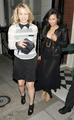 Dianna Agron-Leaving Marks Club with Naya Rivera