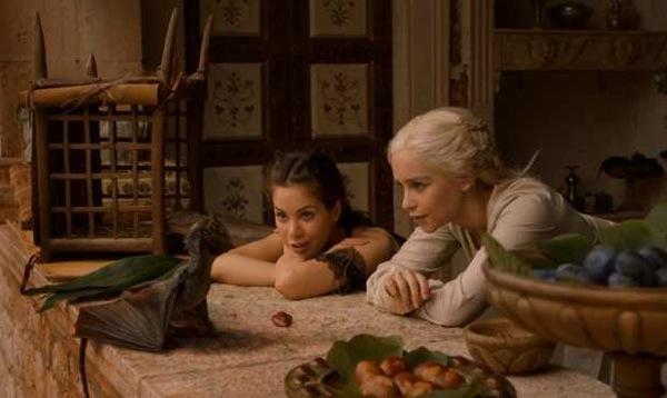 Dany & Doreah with dragon