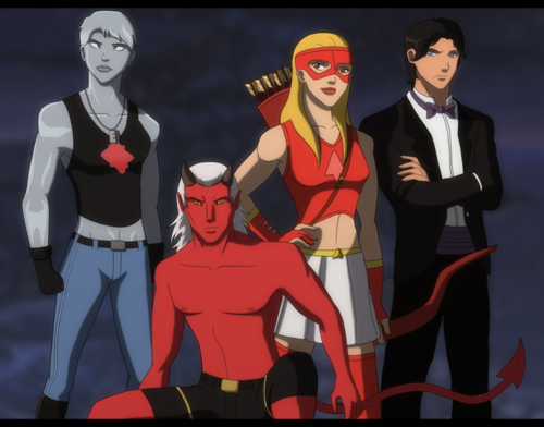 Justiça Jovem wallpaper with animê entitled guardianwolf216 Fanmade Young Justice scenes