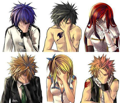 Fairy Tail Обои entitled Epic Facepalm