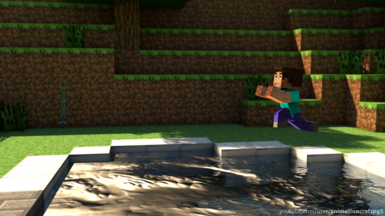 Epic Minecraft Wallpaper Epic Pool Jump