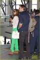 Eva Mendes & Ryan Gosling: Going Green at the Airport! - ryan-gosling photo