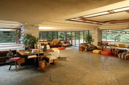 Living Room on Fallingwater Living Room   Fallingwater Photo  31079280    Fanpop