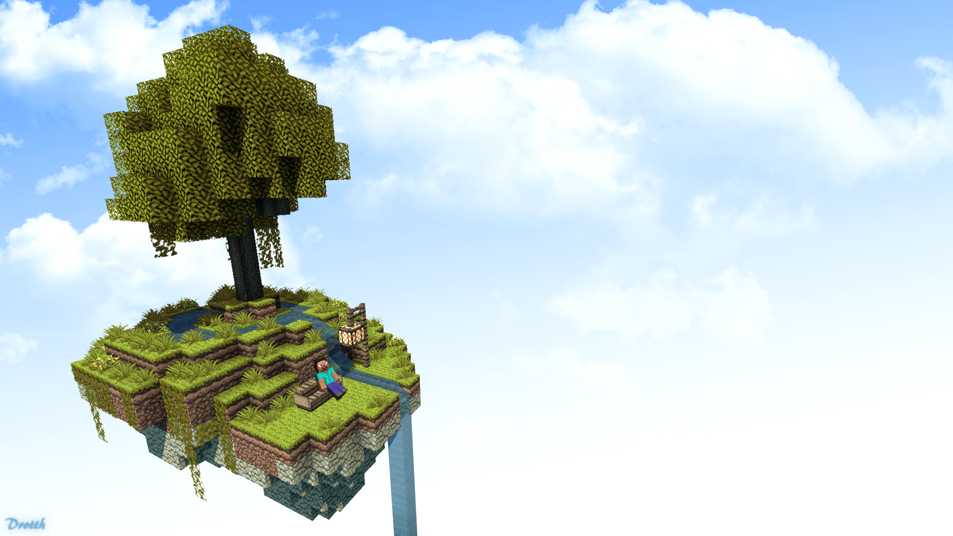 Minecraft gallery floating island