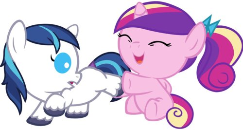 anak kuda, foal Shining Armor and Cadence