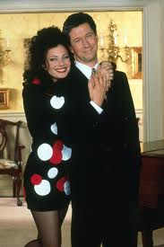 Fran Drescher Hintergrund possibly with a well dressed person and a portrait titled Fran And Charlie