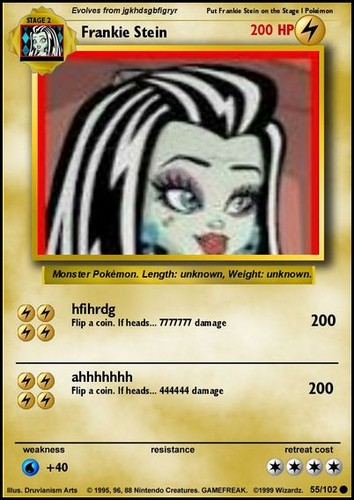Frankie stein pokemon card RARE
