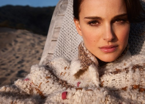 Natalie Portman wallpaper probably containing a fur coat titled Frederic Auerbach for Dior (2012)