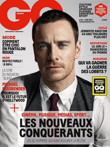 Michael Fassbender wallpaper probably containing anime entitled GQ France Magazine cover June 2012