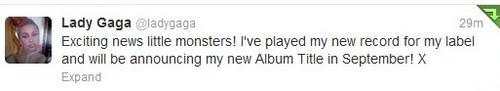 Gaga's new Album 제목 in September!