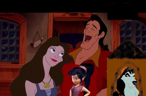 disney crossover wallpaper containing anime called Gaston's family