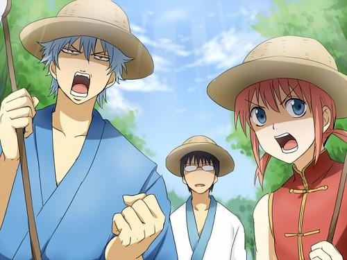 Gintoki, Kagura & Shinpachi x3