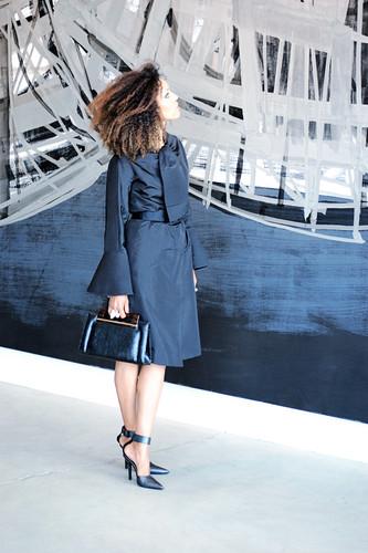 Global Girl Ndoema rules Fashion Week in stunningly elegant look