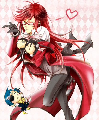 black butler wallpaper possibly containing a bouquet titled Grell