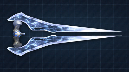 Halo wallpaper containing a claymore, a dirk, and a falchion titled Halo 4 Energy Sword